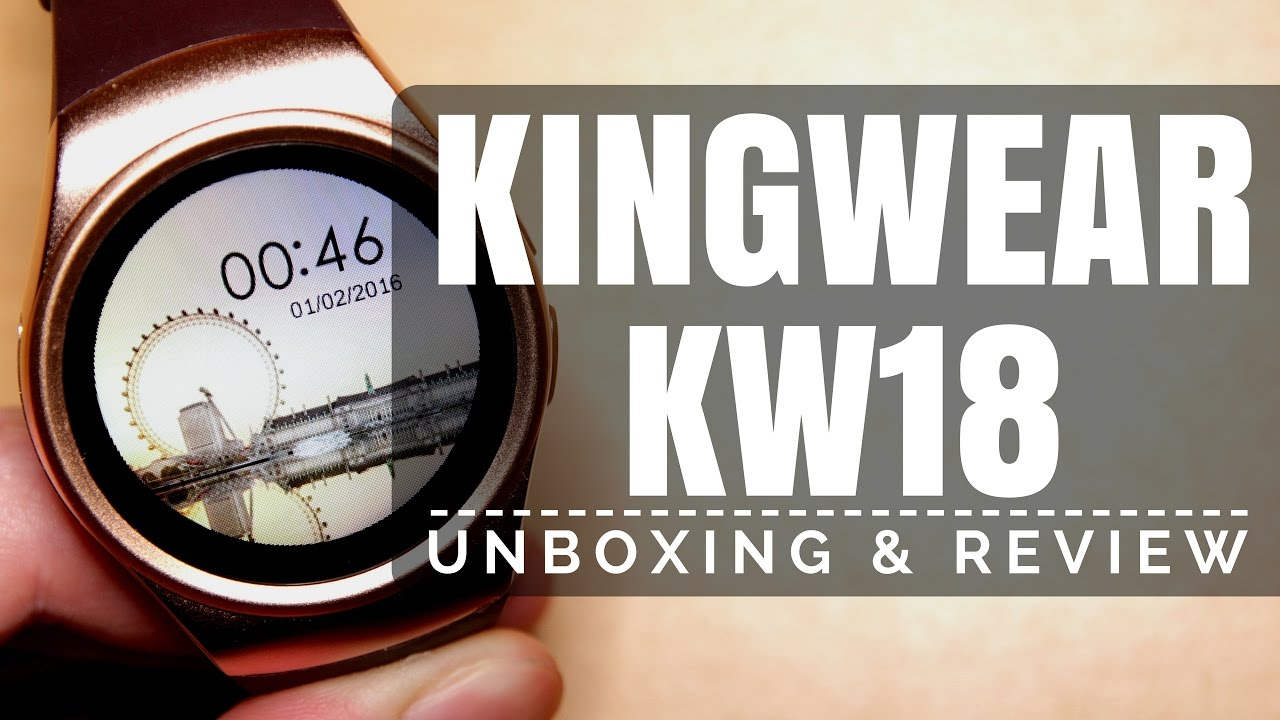 KingWear KW18 Smartwatch for Android & iPhone from Gearbest